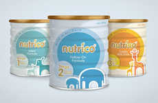 Purist Formula Packaging - Nutrico Baby Food Branding Communicates Cuteness and Cleanliness