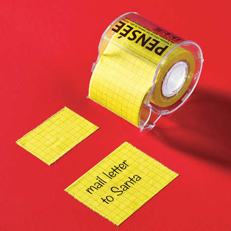 Rolled Post-It Ribbons