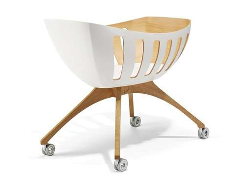 Windowed Baby Cradles - The Lavi Cruiser Bassinet is Contemporarily Airy