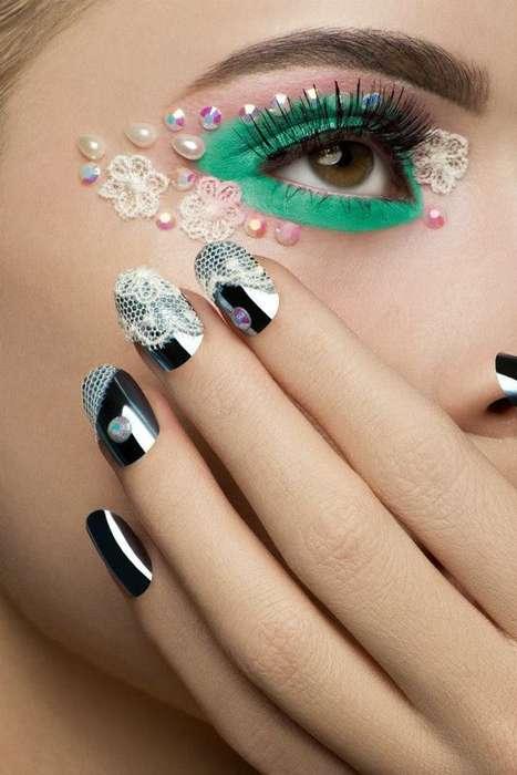 Lace-Embellished Makeup Looks