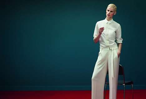 Minimalist Androgynous Fashion - The Strenesse Spring 2014 Campaign Stars Model Saskia de Brauw