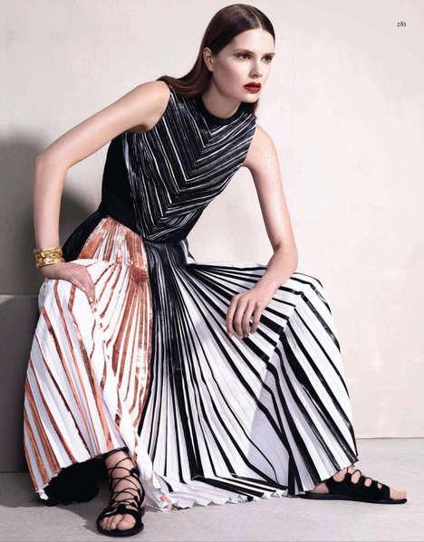 Glamourously Ruffled Garment Editorials
