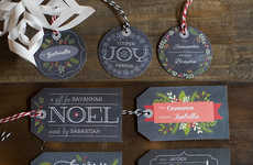 Mock Chalkboard Gift Tags - WorldLabel's Festive Printable Christmas Gift Tags Can Be Customized
