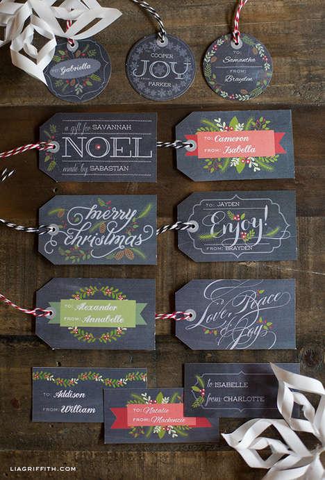 Mock Chalkboard Gift Tags