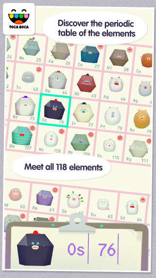 Chemistry Table-Teaching Apps - Toca Lab Helps Kids Learn the Periodic Table in a Fun Way