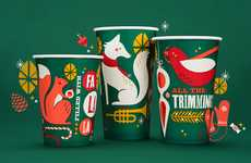 Enchanting Christmas Cups - Panera Bread Holiday Branding Celebrates the Symbols of Yuletide
