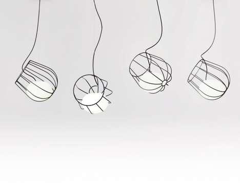 Wireframe Lightbulb Baskets