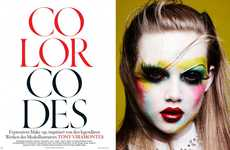 Artistically Clownish Editorials - The Vogue Germany 'Color Codes' Photoshoot is Vibrantly Playful