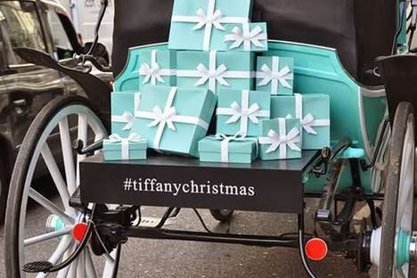 Branded Old World Carriages - Tiffany and Co. Have Iconic Blue Horse-Drawn Carriages This Holiday
