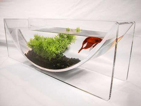 Modern U-Shaped Fish Bowls