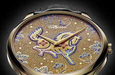 Chinese Zodiac Honoring Timepieces - The Chopard LUC XP Urushi Watch Credits the Year of the Horse