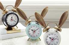 Whimsically Eared Alarm Clocks - Never Be Late Again with Your Alice in Wonderland Clock