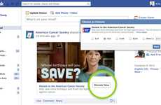 Integrated Social Donation Buttons - Facebook's Donate Button Helps to Support NPOs Within the Site