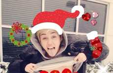 Celebrity Exposed Holiday Cards - This Miley Cyrus Christmas Shot Supports Free the Nipple Campaign