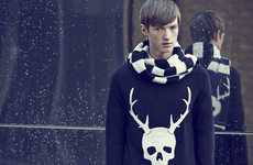Morbid Christmas Jumpers - The SIBLING x Topman Collab Has More Skulls Than Most Holiday Sweaters