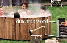 Wood-Burning Outdoor Jacuzzis - The Dutchtub Wood is Rustically Relaxing