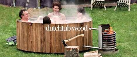 Wood-Burning Outdoor Jacuzzis
