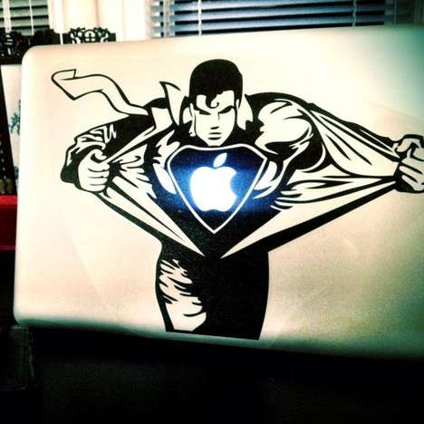This Superman MacBook Decal Will Protect Your Tech From Being Boring