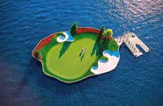 Floating Golf Courses - Visit the Coeur d'Alene Resort to Play Golf with a Floating 14th Hole
