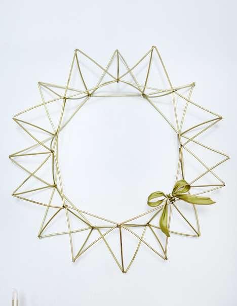 Minimalist Coffee Straw Wreaths