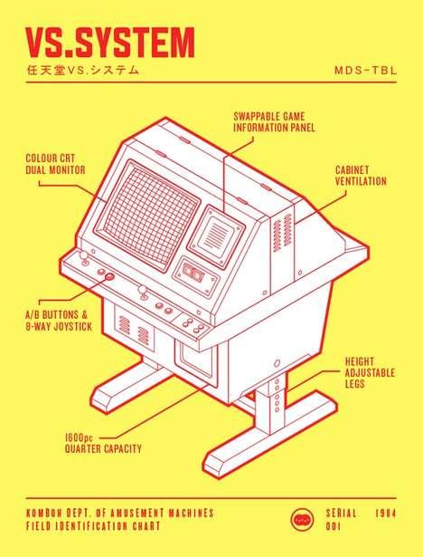 Vintage Game-Inspired Illustrations