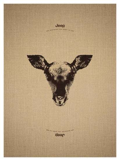 Upside Down Jeep Ads - Jeep Launches a New Set of Ads That Lets You 'See Whatever You Want To See'