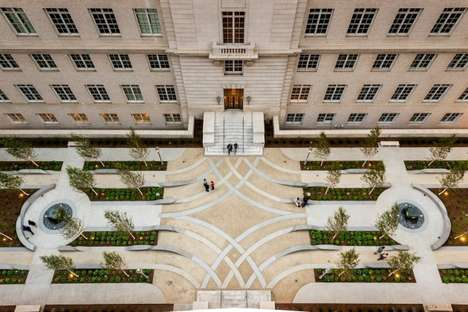 Fluid Concrete Courtyards