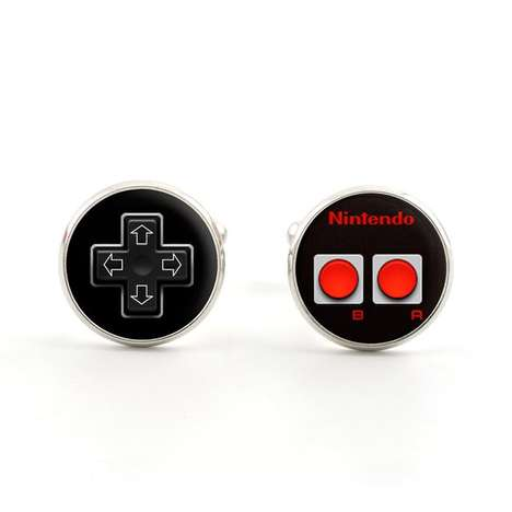 Vintage Game Controller Accessories - Level Up Your Style with These Nintendo Controller Cufflinks