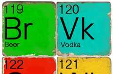 Colorful Chemistry Coasters