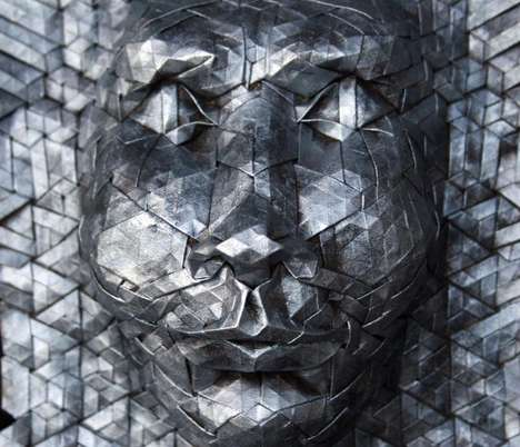 These New Tessellated Origami Masks are Made of Paper