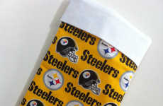 Sports-Obsessed Christmas Stockings - This Steelers Christmas Stocking is Perfect for Festive Fans
