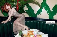 Sensually Dining Fashion Ads