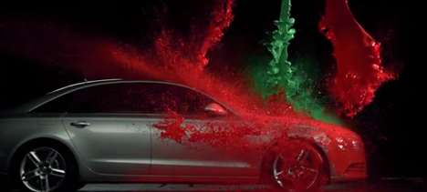 Holiday Paint-Splattered Cars