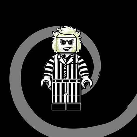 80s LEGO-Influenced Illustrations