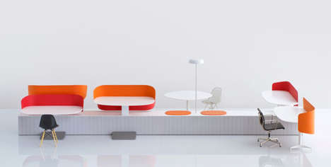 Industrialized Collaborative Furniture - This Flexible Collaborative Office Furniture can Transform