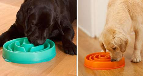 Puzzling Pooch Dishes - The Doggy Slo-Bowl Is Made Like a Maze to Make Rapid Eating Impossible