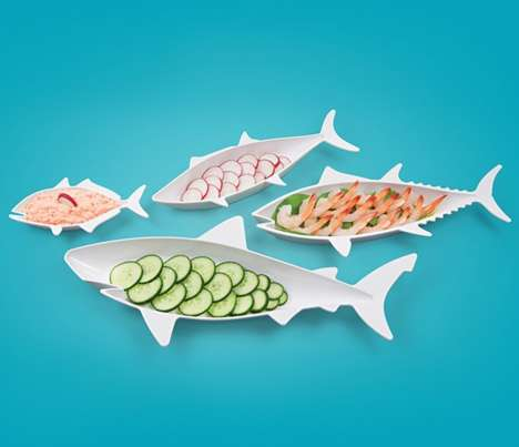 Seafaring Nesting Dishes - These Fish Plates Will Organize Any Dinner Table