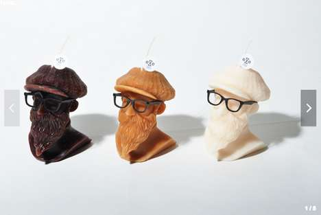 Bearded Wax Busts - The Eye Candle X Wisdom Mt. Gentleman Candle is for Hipsters