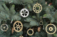 Gear Christmas Ornaments - These Steampunk Christmas Orbanaments are a Odd Alternative