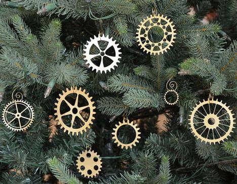 Gear Christmas Ornaments