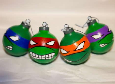 Retro Reptile Christmas Ornaments