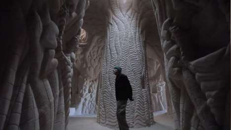 Hand-Carved Cave Walls