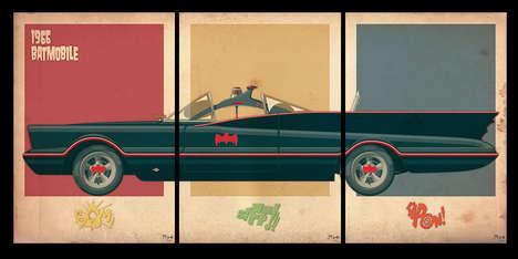 Triptych Film Car Art