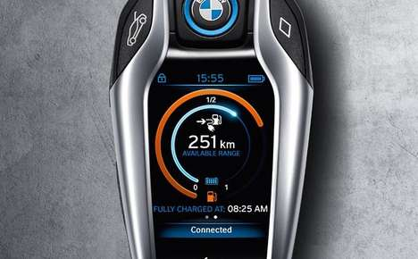 Car-Monitoring Key Fobs - The BMW i8 Key Displays Vital Engine and Battery Information