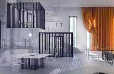 Elegant Jailhouse Eateries - The 'Poczekalnia' Conceptual Restaurant Design Comes From Karina Wiciak