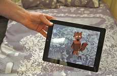 Interactive Augmented Bedtime Apps - This Bedtime Story App Turns Bedsheets into Backgrounds