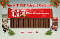 Snapping Chocolate Christmas Countdowns - The Kit Kat Advent Calendar is Made Up of 24 Fingers
