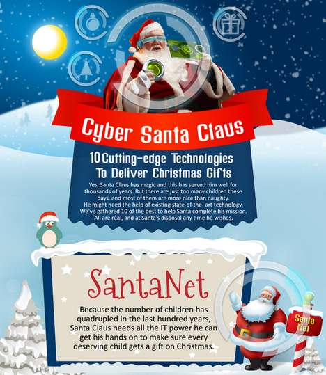 Tech-Assisted Santa Graphics