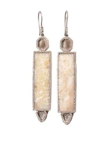 Luxe Prehistoric Jewelry - These Monique Péan Earrings Have Fossilised Woolly Mammoth Pieces