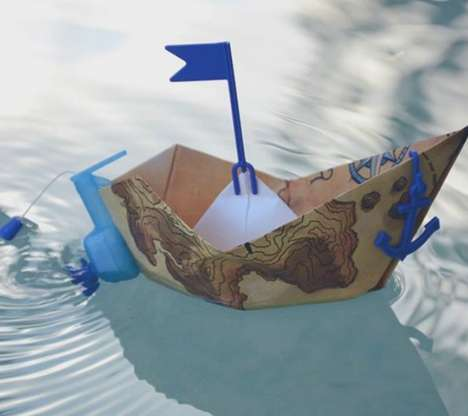 Motor-Powered Origami Boats